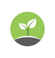 eco logo emblem symbol vector image