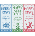 Set of knitted banners with copy space vector image vector image