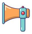 hand speaker icon cartoon style vector image