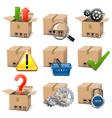 Shipment Icons Set 8 vector image