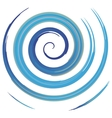 blue watercolor spiral vector image