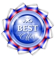 Blue best offer badge vector image vector image