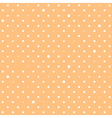 Orange Cream Star Polka Dots Background vector image