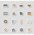Car Service Icons Sticker Set vector image vector image