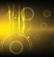 golden technology background vector image vector image