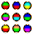 Nine multi-colored icons vector image vector image