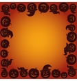 Background with Pumpkins Jack O Lantern vector image