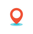 geo location pin icon flat vector image