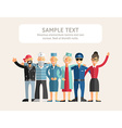 Group of Diverse People in Different Occupations vector image