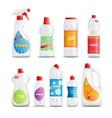 household chemical goods set vector image