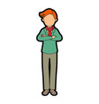 isolated standing young man vector image
