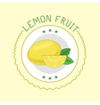 Lemon badge vector image
