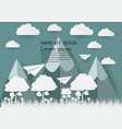 nature landscape and concept of ecology idea sky vector image