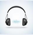 realistic wireless earphones vector image