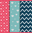 set of paper decoration love romantic pattern vector image