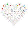 Space rocket fireworks heart vector image