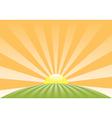 sun sky retro meadow roundN vector image