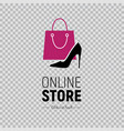 web banner online store with womens footwear vector image