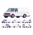 white van set vector image