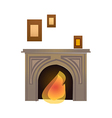 Kindle a fire in a fireplace vector image