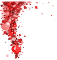 background of red hearts vector image vector image