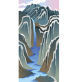 mountains and river vector image
