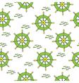 wheel pattern green yellow vector image