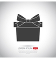 Gift icon Flat design vector image