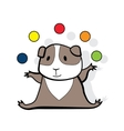 Hamster juggles colorfull balls vector image