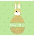 Happy easter poster egg with hare vector image
