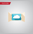 isolated open flat icon cloud element can vector image