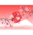 Japanese cherry tree vector image