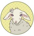 lamb head vector image