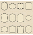 Set of design elements-vintage labels vector image