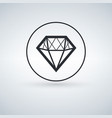 solid icons for diamond icon vector image