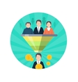 Target Audience Flat Style Seo Icon People vector image