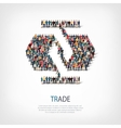 Trade people crowd vector image