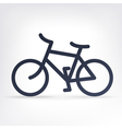 simple bicycle icon vector image