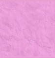 texture of pink crumpled paper background vector image