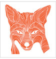 Fox animal sketch tattoo symbol vector image vector image