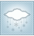 Winter background with ornamental place for your t vector image vector image