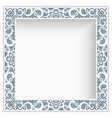 square photo frame with lace border pattern vector image