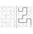 Islands maze vector image