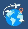 Travel destination concept Flat design stylish vector image