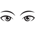 pair female expressive eyes Icon vector image