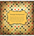 Vintage card design with dot pattern vector image
