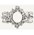 Antique Ornate Frame Engraving vector image