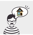 burglar criminal house icon vector image