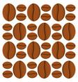 coffee bean caffeine seamless pattern vector image