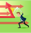 cutting direction business concept vector image